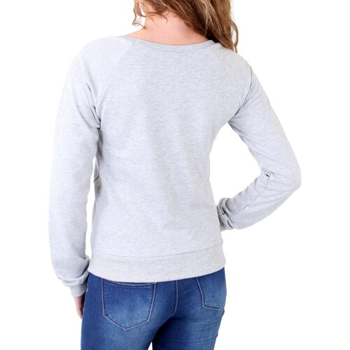 Madonna Sweatshirt Damen LIZ Deko-Zipper Short Sweater mit Aufdruck MF-407009