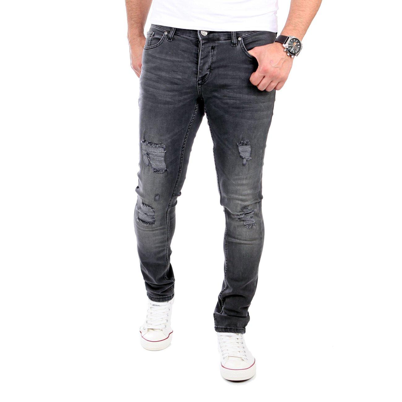 reslad herren jeans slim fit destroyed rs 2062. Black Bedroom Furniture Sets. Home Design Ideas