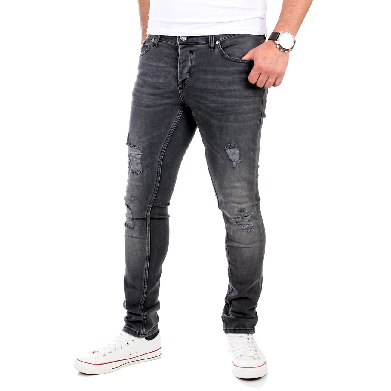reslad herren jeans slim fit destroyed rs 2062. Black Bedroom Furniture Sets. Home Design Ideas