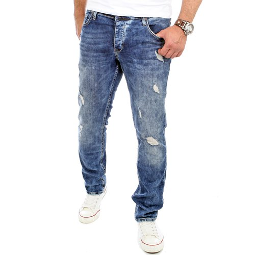 Reslad Herren Jeans Destroyed Slim RS-2069
